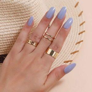 5/$12 💞 3pc Gold Boho Ring Set